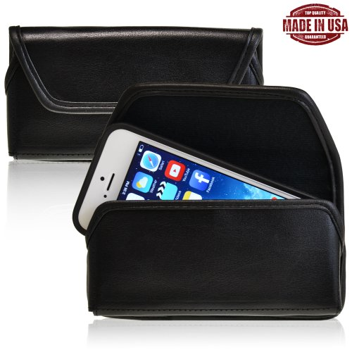 Turtleback Apple Iphone 5 / 5S / 5C Genuine Leather Holster Case Pouch With Metal Belt Clip - Made In Usa