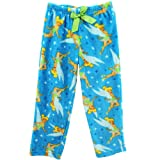 "Disney Fairies ""Tinkerbell"" Turquoise Girls Fleece Pajama Pants"