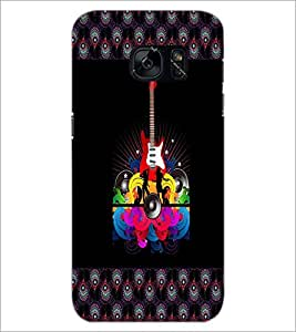 PrintDhaba Guitar D-5732 Back Case Cover for SAMSUNG GALAXY S7 (Multi-Coloured)