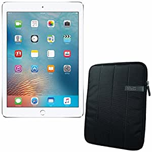 """APPLE 9.7-inch iPad Pro Wi-Fi 128GB - Silver MLMW2CL/A + 10.1 """" Padded Case For Tablet Bundle"""