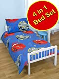 Disney Cars 2 Espionage Childs Toddler / Junior Bedding Bundle Set - Quilt, Pillow & Covers
