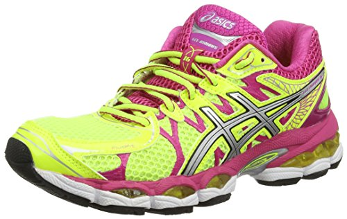 asics-gel-nimbus-16-womens-training-running-shoes-yellow-flash-yellow-silver-hot-pink-793-3-uk