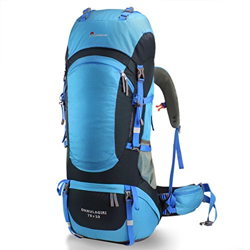 226505c9a3 Mountaintop 80l Hiking Backpack (Sky Blue) Price in India