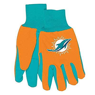 NFL Team Logo Grip Gloves - Miami Dolphins