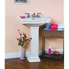 Barclay Stanford 600 8-Inch Widespread Vitreous China Pedestal Sink