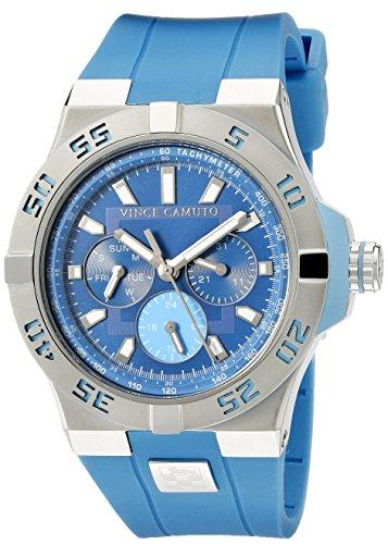 Vince Camuto VC/1010LBSV - Orologio da polso unisex, cinturino in silicone colore blu
