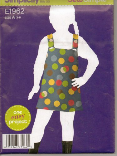 Girls Clothes Pattern Apron/ Pinafore New Uncut Simplicity 2011 Design E1962