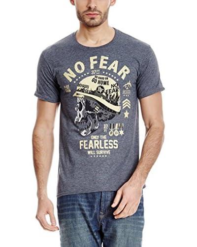 No Fear T-Shirt Manica Corta Bravery [Grigio]