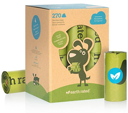 Earth Rated Dog Waste Bags - Unscented - 270 ct