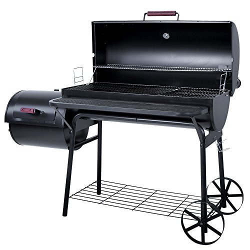 broil-master-Charcoal-BBQ-Smoker-with-5-Grill-Grates-Garden-Camping-Barbecue