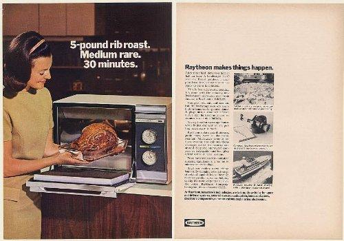 1968 Raytheon Amana Radarange Microwave Oven 2-Page Print Ad (Memorabilia) (54818)