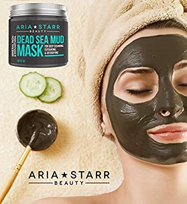 Best Cheap Deal for Aria Starr Beauty Dead Sea Mud Mask For Face, Acne, Oily Skin & Blackheads - Best Facial Pore Minimizer, Reducer & Pores Cleanser Treatment - 100% Natural For Younger Looking Skin 8.8oz by AriaStarrBeauty - Free 2 Day Shipping Availabl