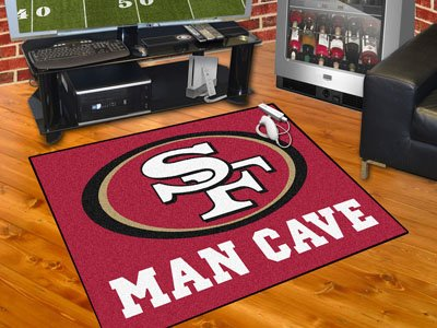 San Francisco 49ers 34 x 45 Man Cave Rug at Amazon.com