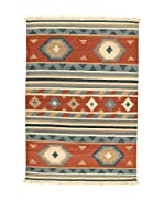 Kilim Carpets by Jalal Alfombra In Kilim Jaipur Ney Teja/Azul 60 x 120 cm