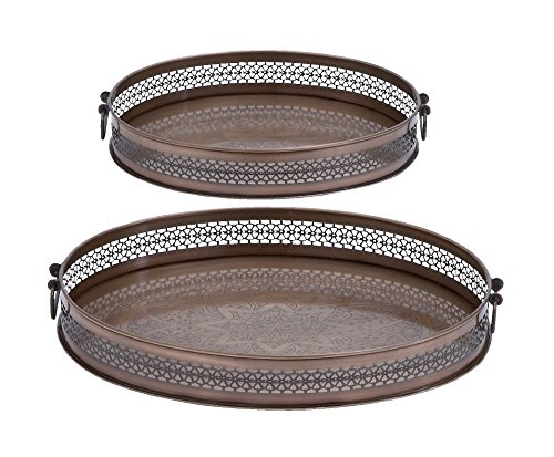 Deco 79 Metal Tray, 17 by 14-Inch