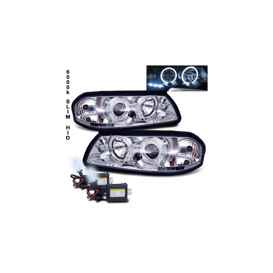 Eautolight 6000k Slim Xenon HID Kit+00 05 Chevy Impala Halo LED Projector Head Lights Lamp
