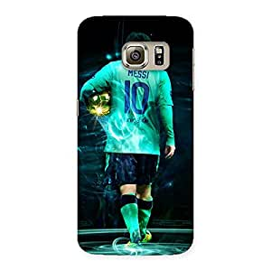 Ajay Enterprises Foot God Print Back Case Cover for Samsung Galaxy S6 Edge
