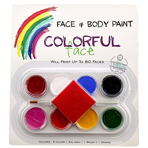face painting body paint kit usa colorful art crafts non. Black Bedroom Furniture Sets. Home Design Ideas