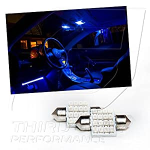 TGP 31mm Blue 16 LED SMD Festoon Map Light Bulbs Pair 2001-2007 Toyota Highlander