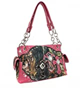 Pink Camouflage Triple Cross with Diamonds Conceal Purse