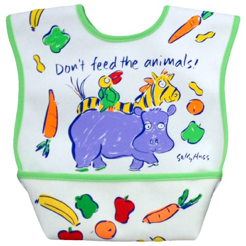 Dex Dura Bib Large for Ages 6 - 24 Months - Don't Feed the Animals - 1