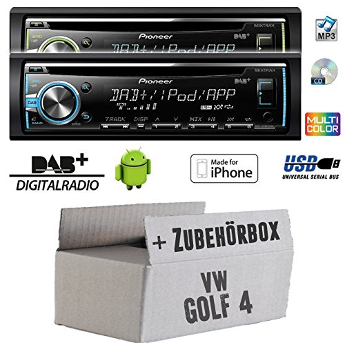 VW golf 4 iV pioneer dEH-x6800DAB dAB-cD/mP3/uSB avec dAB et antenne inclus