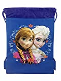 New Disney Frozen Queen Elsa Drawstring String Backpack School Sport Gym Tote Bag!- Blue