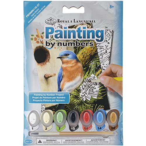"Royal Brush Eastern Bluebird Mini Paint by Number Kit, 5"" by 7"""
