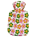 Warm Tradition DAISY FLANNEL CHILDREN'S Covered Hot Water Bottle - Bottle made in Germany, Cover made in USA
