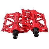 [Dokpav]超軽量アルミ合金製 自転車ペダル カラーオプション 2個 (赤)