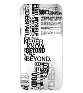 ColourCraft Typography Design Back Case Cover for SAMSUNG GALAXY NOTE 2 N7100