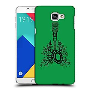 Snoogg Green Mike Designer Protective Back Case Cover For SAMSUNG A9