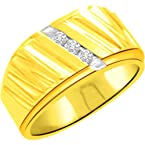 0.12ct 3 Diamond Classic Gold Ring