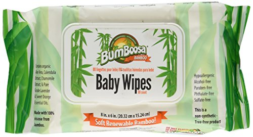 Bum Boosa Bamboo Baby Wipes, one pack of  80