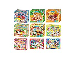 Kracie Popin Cookin 9 Item Bundle with Sushi, Hamburger, Bento, Donuts, Cake Shop and More