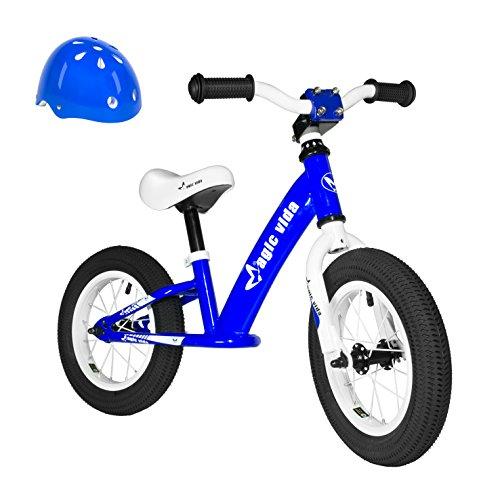 Magic Vida Kid's Balance Bike No Pedal 12 InchTraining Bike for Children Boys and Girls with Helmet