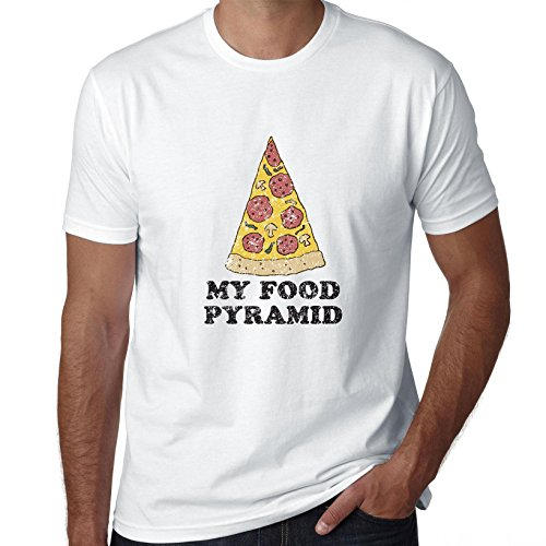 food-funny-pizza-my-food-pyramind-fast-food-exclusive-quality-t-shirt-for-herren-lg-shirt