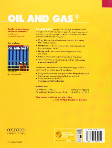Oxford english for careers. Oil & gas. Student's book. Con espansione online. Per le Scuole superiori: Oxford English for Careers. Oil and Gas 1: Student's Book