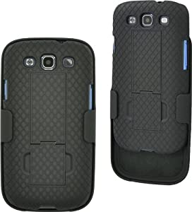 Aduro Shell Holster Combo Case for Samsung Galaxy S3 with Kick-Stand & Belt Clip (AT&T, Verizon, T-Mobile, US Cellular & Sprint)