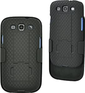 Aduro Shell Holster Combo Case for Samsung Galaxy with Kick-Stand & Belt Clip (AT&T, Verizon, T-Mobile, US Cellular & Sprint) (Galaxy S3)