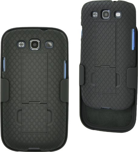 Aduro Shell Holster Combo Case for Samsung Galaxy S3 with Kick-Stand (AT&T, Verizon, T-Mobile, US Cellular & Sprint)
