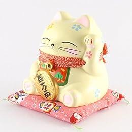 貯金箱 福あつめ猫 (中) 小判