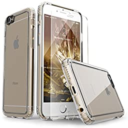 iPhone 6 Case, SaharaCase® Clear With [Tempered Glass Screen Protector] Fits Apple iPhone 6s & 6 [Shock-Absorbing Bumper] Anti-Scratch Back [Camera Image Enhancing Technology] Crystal Clear