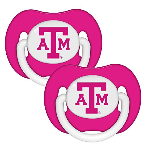 Baby Fanatic Pacifier (2 - Pack) - Texas A&M Pink