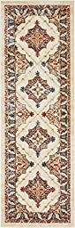 2 feet by 6 feet (2\' x 6\') Runner Arcadia Cream Area Rug