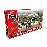 Airfix A09008 Douglas Dakota MK III with Willys Jeep Military Plastic Model Kit (1:72 Scale)
