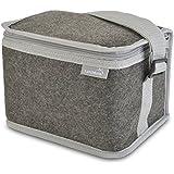 LunchBots Felt Insulated Lunch Bag Gray