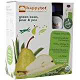 Happy Tots Organic Superfood, Green Beans, Pear & Pea 4 Ea