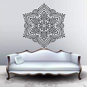 Wall Decal Art Decor Decals Sticker Snowflake Buddhism India Indi