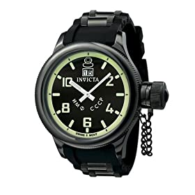 Invicta Men's Russian Diver Collection Black Watch #4338